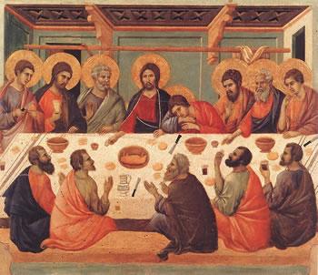 Dernière Cène. Duccio