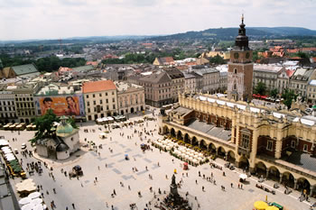 Cracovie - La place du marché