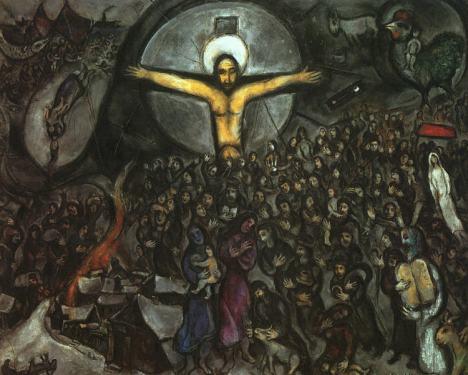 Marc Chagall. Jésus en croix